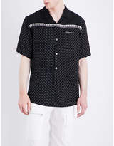 Undercover Polka Dot And Piano-print Satin Shirt