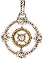 Judith Ripka Bi-Color Diamond Garland Enhancer Pendant