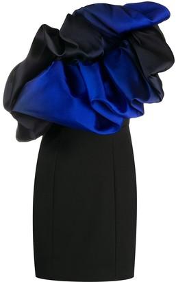 SOLACE London Finley asymmetric mini dress