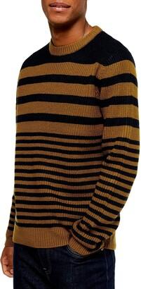 Topman Stripe Crewneck Sweater