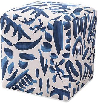 Imagine Home Lino Ottomans - Blue/White
