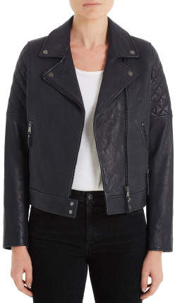 AG Adriano Goldschmied Larissa Moto Leather Jacket