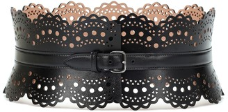 Alaã ̄A Leather corset belt