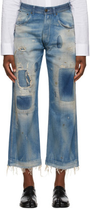 Maison Margiela Blue Worn Out Jeans
