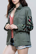 En Creme Embroidered Army Jacket