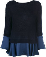 Semi-Couture Semicouture pleated trim pullover