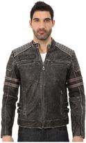 Affliction Fast Lane Leather Moto Jacket