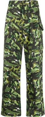 Marni Abstract Print Cargo Trousers
