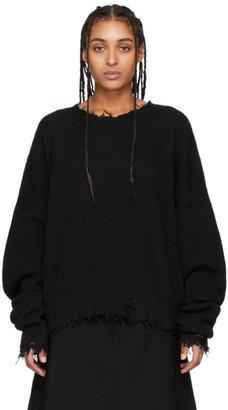 Unravel Black Oversized Chopped Sweater