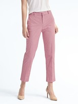 Banana Republic Avery-Fit Red Check Pant