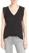 Women's Trouve Shoulder Pleat Sleeveless Tee