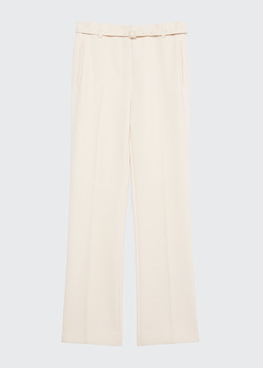 Theory Mid-Rise Straight-Leg Belted Pants