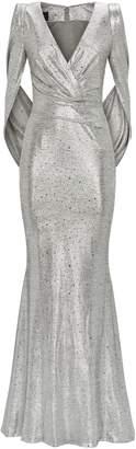 Talbot Runhof Embellished Rosin Gown