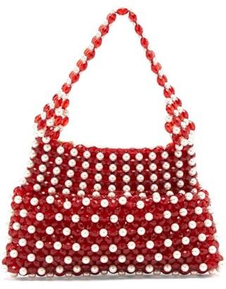 Shrimps Quinn Faux-pearl Beaded Bag - Red Multi