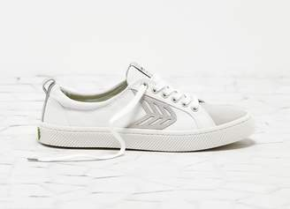 Cariuma CATIBA Low Off White Canvas Ice Suede Accents Sneaker Men