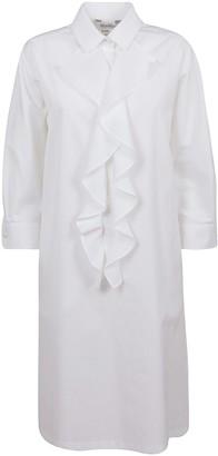 Max Mara White Cotton Dress