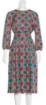 Vanessa Seward Silk Floral Print Dress