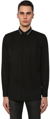Givenchy Cotton Shirt W/Logo Collar