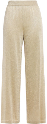 Missoni Cropped Metallic Knitted Wide-leg Pants