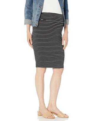 Ripe Maternity Women's Maternity Mia Stripe Skirt Black/Flint Medium