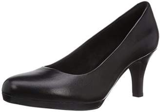Clarks Tempt Appeal, Womens Court Shoes, Black (Black Leather), (40 EU)