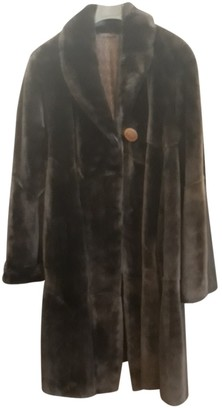 Fendi Brown Beaver Coat for Women Vintage