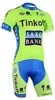 ETBO 2015 Tinkoff SAXO Pro Team Men's Camouflage Short Sleeve Replica Cycling Jersey and Bib Shorts Set Green