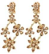 Oscar de la Renta Crystal Star Chandelier C Earrings (Light Topaz) Earring
