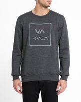RVCA Grey VA All the Way Round-Neck Sweatshirt