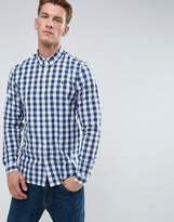 Fred Perry Marl Gingham Shirt In White Marl