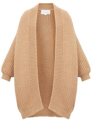 I Love Mr Mittens Chunky Fisherman Knit Wool Cardigan - Womens - Beige