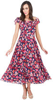 Betsey Johnson Floral Ruffle Neck Dress