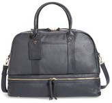 Sole Society 'Mason' Faux Leather Weekend Bag - Blue