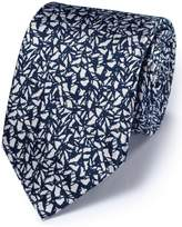 Charles Tyrwhitt Navy Silk Classic Abstract Texture Tie