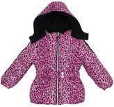 Pink Platinum Girls 4-6x Cheetah Print Heavyweight Puffer Jacket