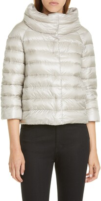 Herno Quilted Down Crop Puffer Jacket