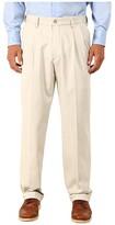 Dockers Comfort Khaki Stretch Relaxed Fit Pleated (Porcelain Khaki) Men's Casual Pants