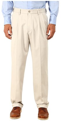 Dockers Comfort Khaki Stretch Relaxed Fit Pleated (Porcelain Khaki) Men's Casual Pants