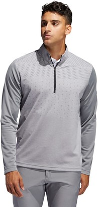 adidas Men's Lightweight UPF Half-Zip Golf Polo
