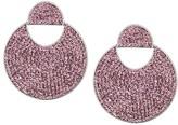 Kate Spade Mod Scallop Pave Drop Earrings (Light Amethyst) Earring