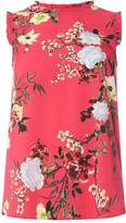 Dorothy Perkins Pink Floral Sleeveless Top