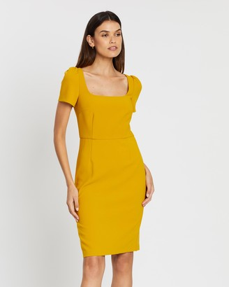 French Connection Square-Neck Short Sleeve Dress