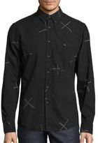 Nudie Jeans Cross Print Button-Down Shirt