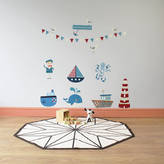 STUDY Parkins Interiors Row Your Boat Wall Stickers