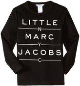 Little Marc Jacobs Essential T-shirt (Toddler/Kid) - Black - 3A