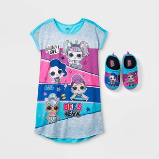 L.O.L. Surprise! Girs' .O.. Surprise! Gown With Sippers Pajama Set -