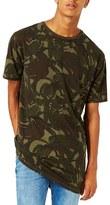 Topman Men's Camo Longline T-Shirt