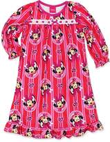 Disney Minnie Mouse Girls Flannel Granny Gown Nightgown Pajamas