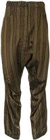 Rundholz - striped trousers - women - Cupro - S