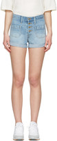 Levi's Levis Blue Denim Orange Tab Shorts
